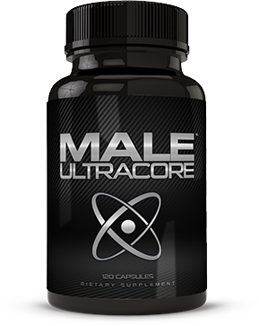 Bottle of Male UltraCore Supplements